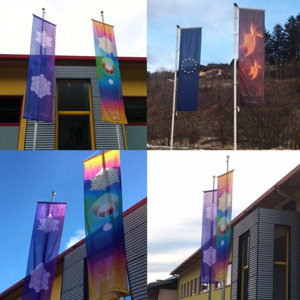 Fotos Friedensfahnen Bannerfahnen