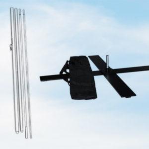Stangensatz und Bodenkreuz für Trenfahnen